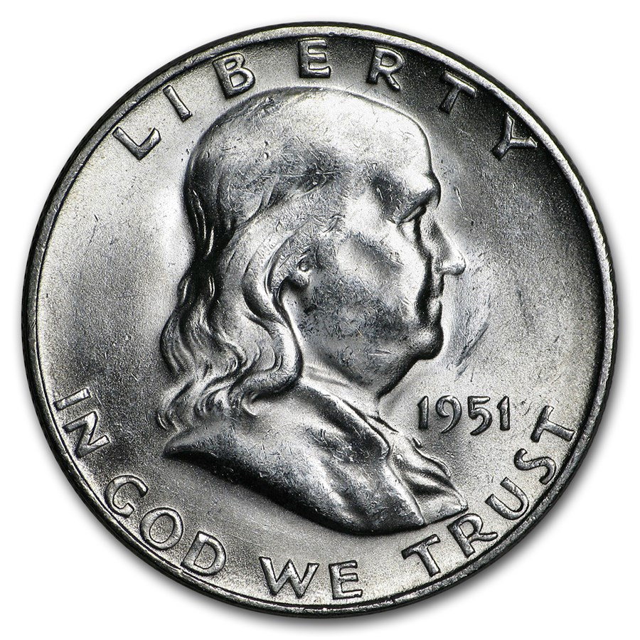 1951-S Franklin Half Dollar AU