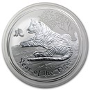 2010 Australia 10 oz Silver Year of the Tiger BU (Series II)