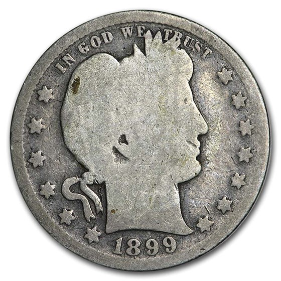 1899-S Barber Quarter AG