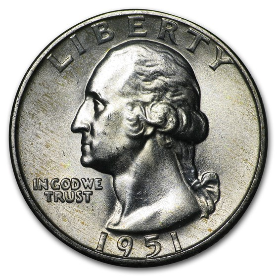 1951-D Washington Quarter BU