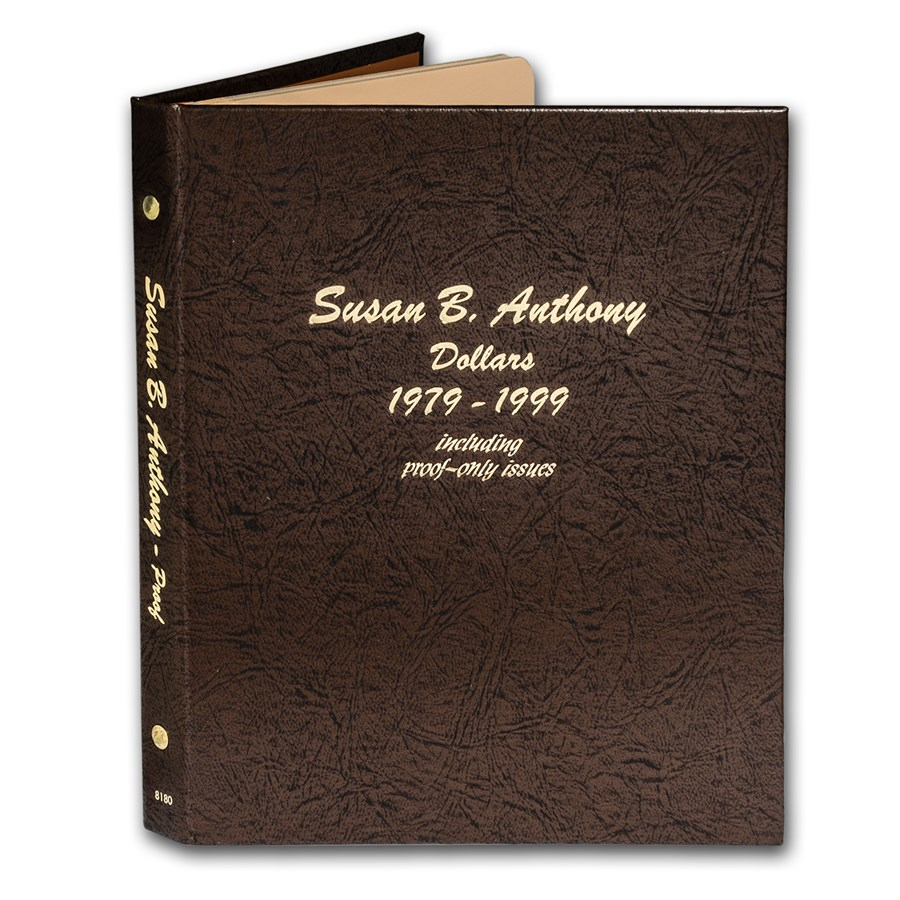 Dansco Album #8180 - Susan B. Anthony Dollars 1979-1999 (w/Prfs)