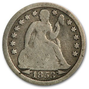 1853 Liberty Seated Dime w/Arrows Good