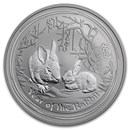 2011 Australia 1 oz Silver Year of the Rabbit BU (Series II)