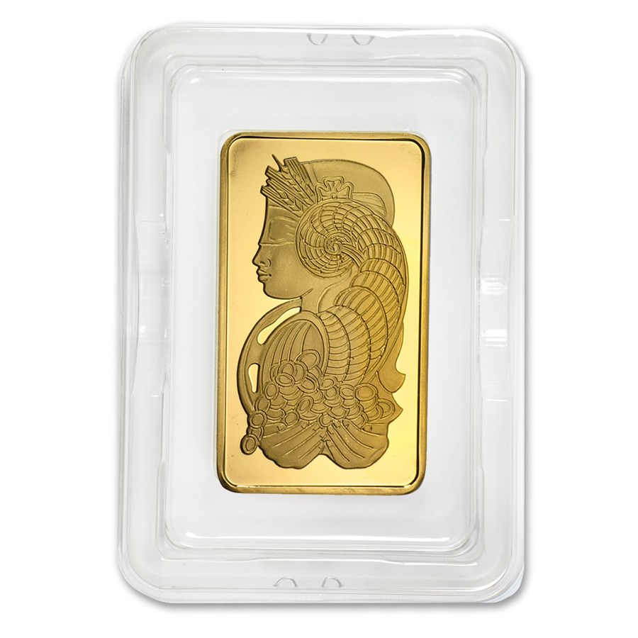 5 oz Gold Bar - PAMP Suisse Lady Fortuna (w/Assay)