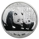 2011 China 1 oz Silver Panda BU (In Capsule)