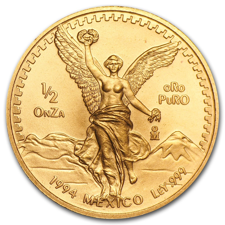 1994 Mexico 1/2 oz Gold Libertad BU