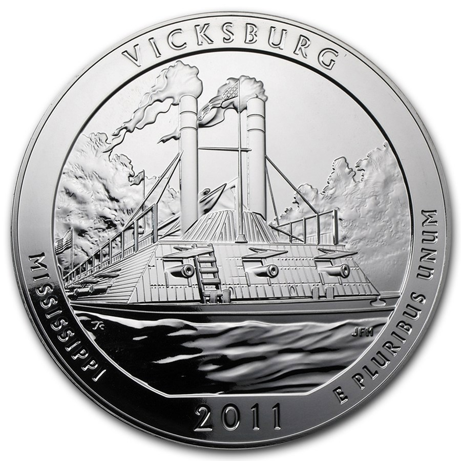 2011 5 oz Silver ATB Vicksburg National Military Park, MS