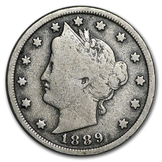 1889 Liberty Head V Nickel VG