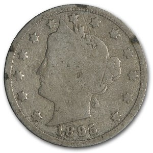 1895 Liberty Head V Nickel Good