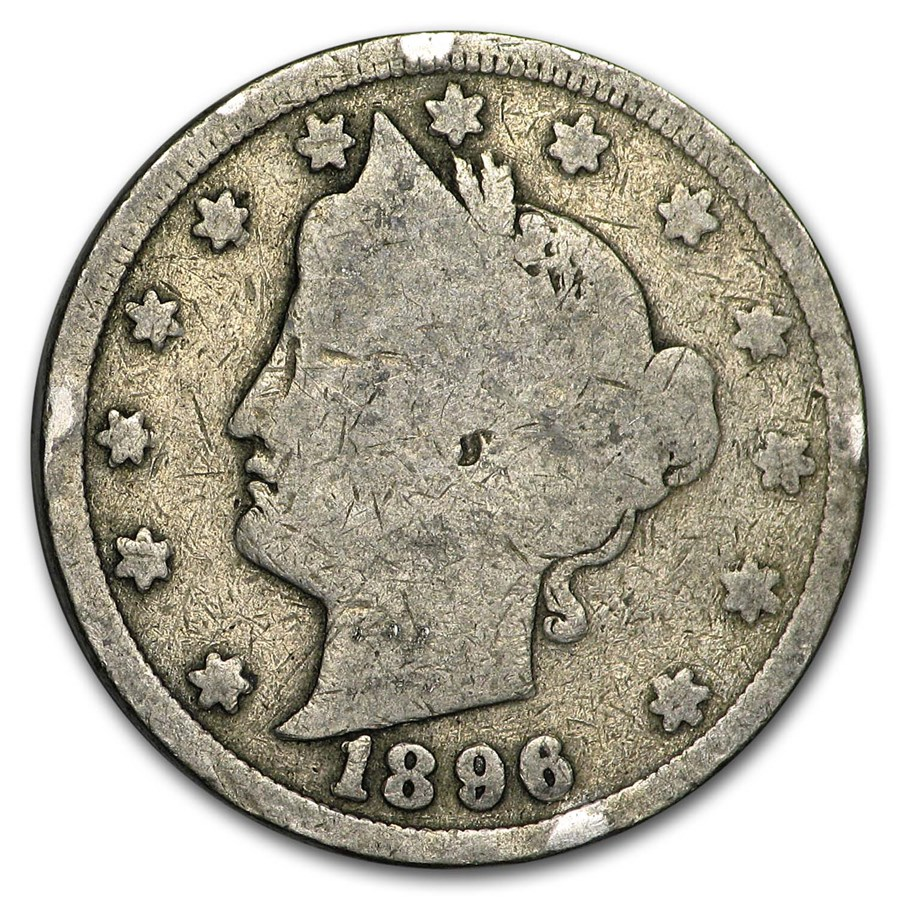 1896 Liberty Head V Nickel Good