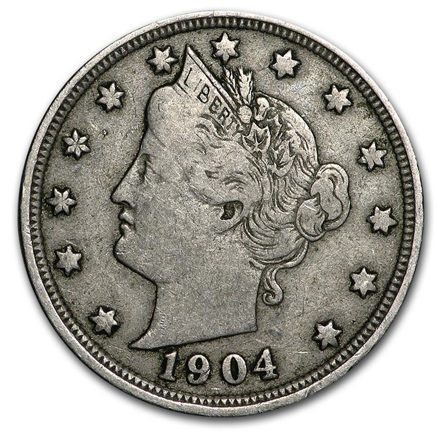 1904 Liberty Head V Nickel VF