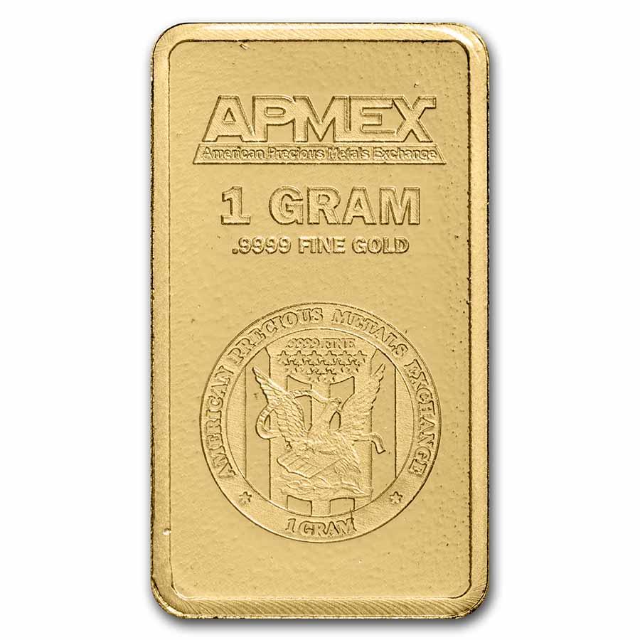 - SKU #63281 APMEX 10 gram Gold Bar In TEP Package