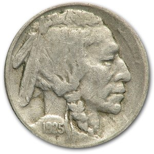 1925 Buffalo Nickel Fine