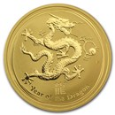 2012 Australia 1 oz Gold Lunar Dragon BU (Series II)