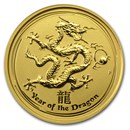 2012 Australia 1/10 oz Gold Lunar Dragon BU (Series II)