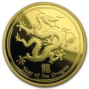 2012 Australia 1 oz Gold Lunar Dragon Proof (Series II)