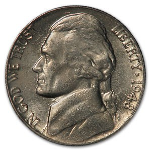 1948 Jefferson Nickel BU