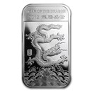 1 oz Silver Bar - APMEX (2012 Year of the Dragon)