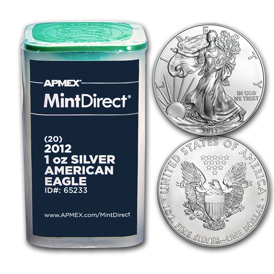 2012 1 oz Silver American Eagles (20-Coin MintDirect® Tube)