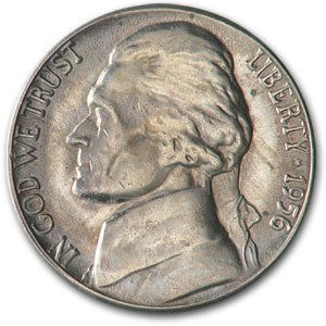1956-D Jefferson Nickel BU
