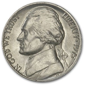 1975 Jefferson Nickel BU