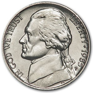 1985-P Jefferson Nickel BU