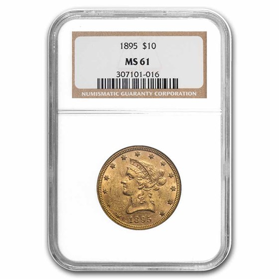 1895 $10 Liberty Gold Eagle MS-61 NGC