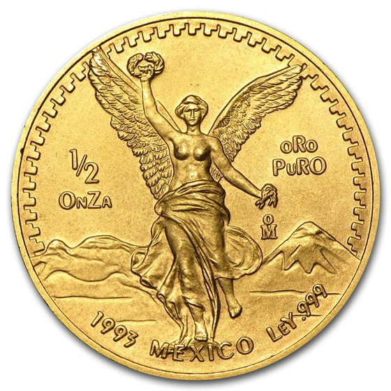 1993 Mexico 1/2 oz Gold Libertad BU