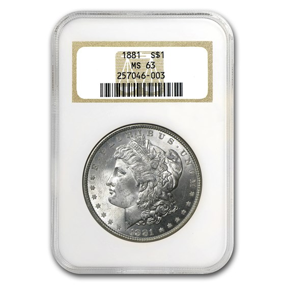 1881 Morgan Dollar MS-63 NGC