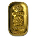 50 gram Gold Bar - PAMP Suisse (Cast, w/Assay)