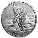 2013 Canada 1/4 oz Silver $20 Wolf (Capsule Only)