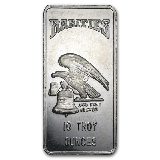 10 oz Silver Bar - Rarities Mint (Pressed)