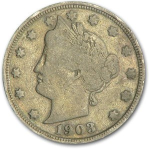 1903 Liberty Head V Nickel Good+