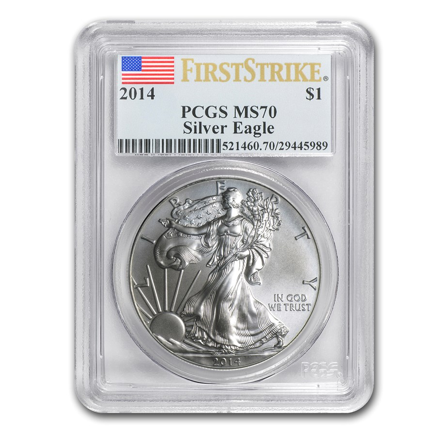 2014 Silver American Eagle MS-70 PCGS (FirstStrike®)