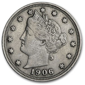 1906 Liberty Head V Nickel Good+
