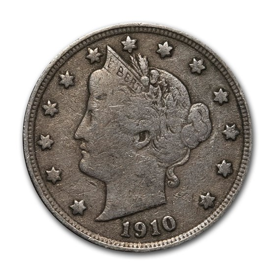 1910 Liberty Head V Nickel Good+