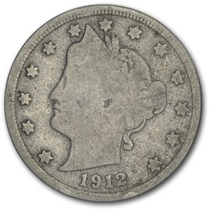 1912-D Liberty Head V Nickel Good+