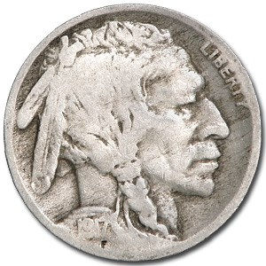 1917 Buffalo Nickel Good+