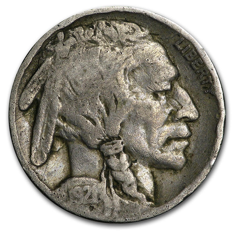 1921 Buffalo Nickel Good+