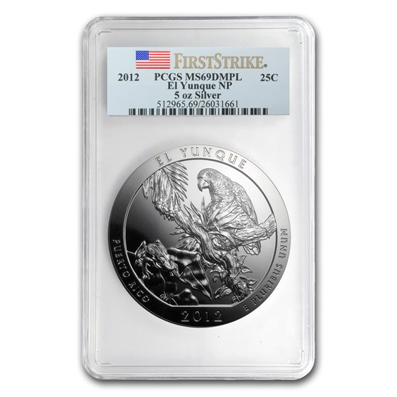 2012 5 oz Silver ATB El Yunque MS-69 DMPL PCGS (FirstStrike®)