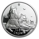 2011 Isle of Man 1 oz Silver Turkish Angora Cat Proof