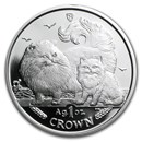 2009 Isle of Man 1 oz Silver Chinchilla Cat Proof