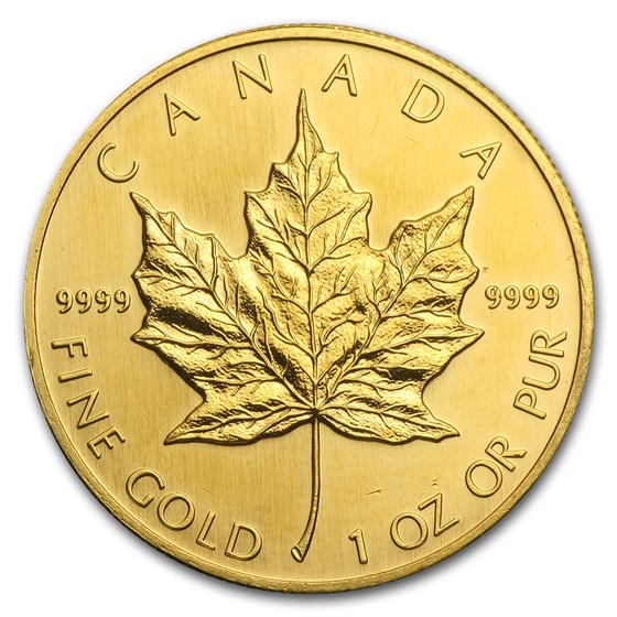1993 Canada 1 oz Gold Maple Leaf BU
