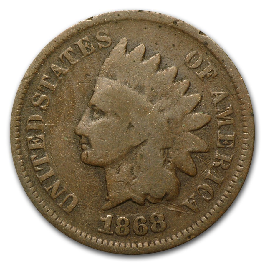 1868 Indian Head Cent Good