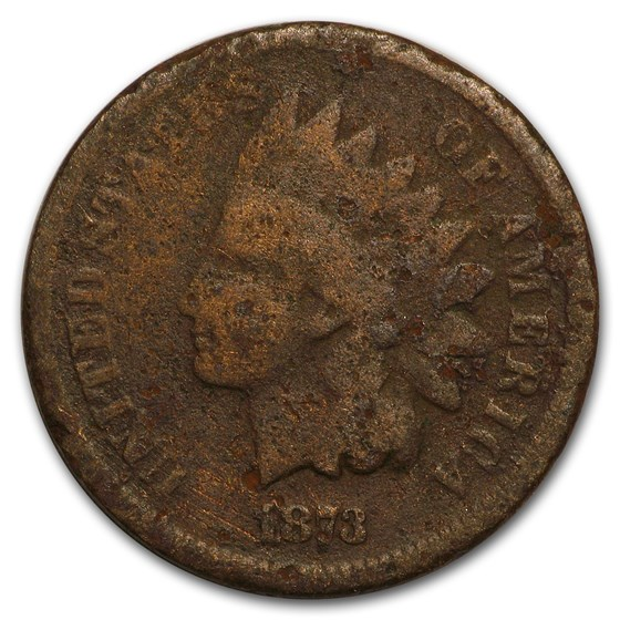 1873 Indian Head Cent Open 3 AG