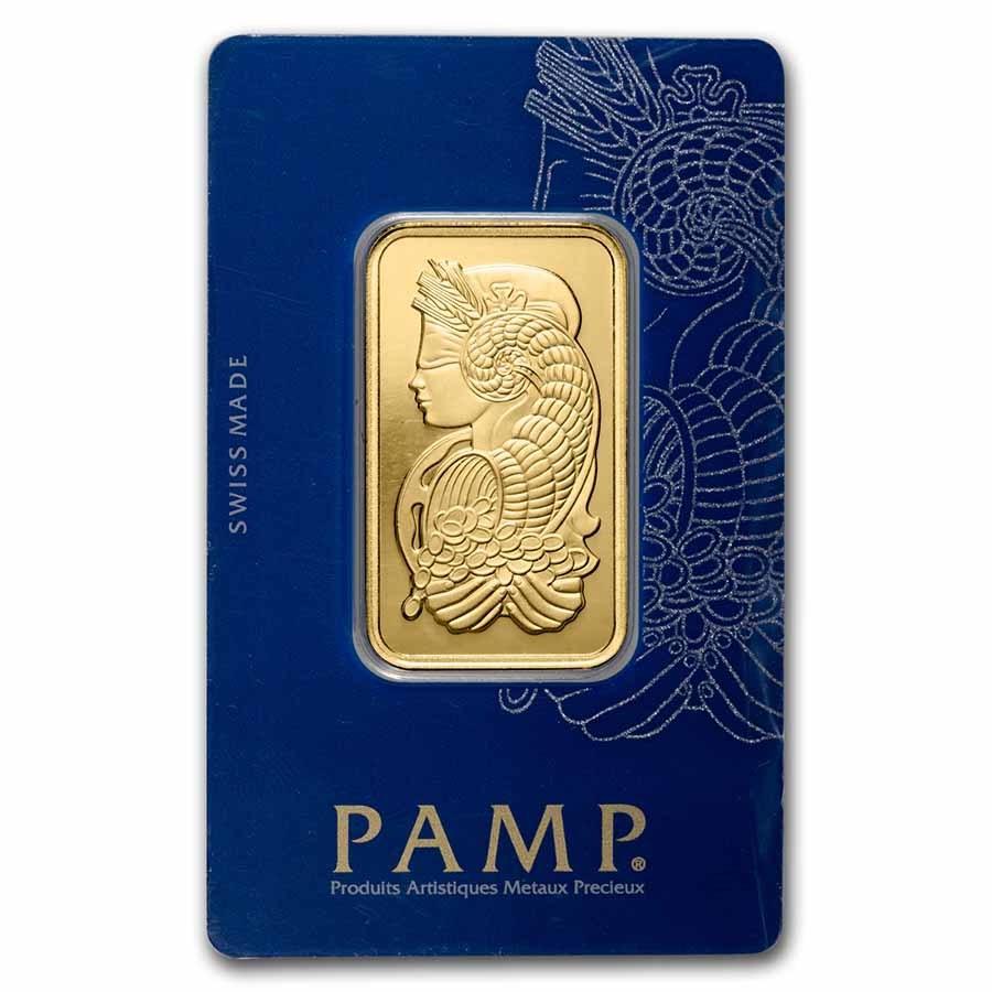 1 Oz Gold Bar Pamp Suisse Lady Fortuna