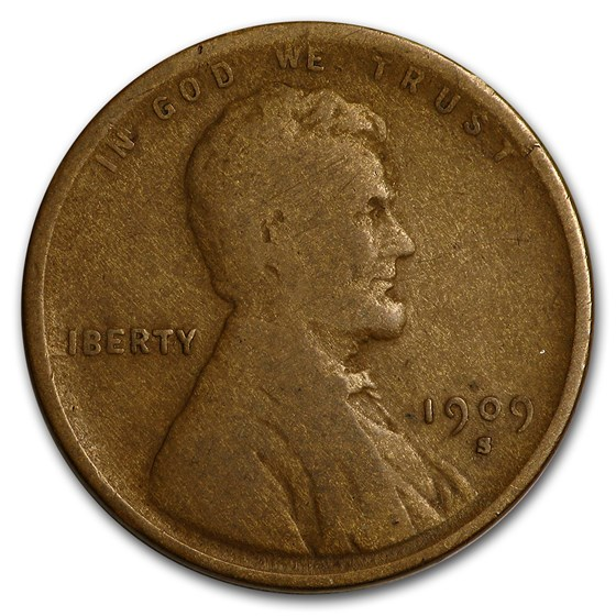 1909-S Lincoln Cent Good
