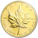 1985 Canada 1/10 oz Gold Maple Leaf BU