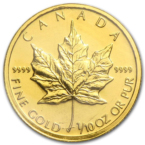 1996 Canada 1/10 oz Gold Maple Leaf BU