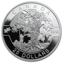 2014 Canada 1 oz Silver $25 Under The Maple Tree